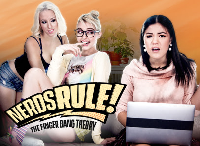 [GirlsWay] Chloe Cherry, Kendra Spade, Aspen Romanoff – The Finger Bang Theory